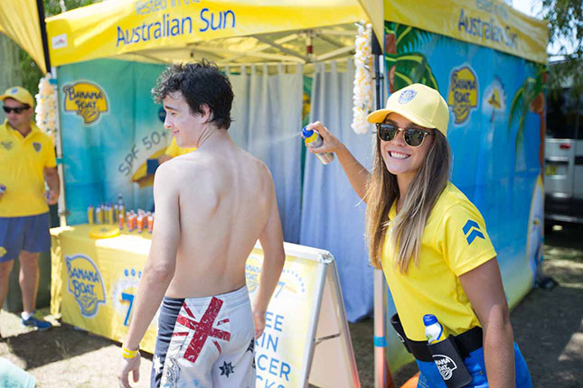 banana boat supporting sponsor of bondi to bronte ocean swim