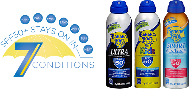 banana boat sunscreen products